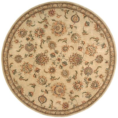 2000 Hand Woven Wool Brown/Tan Indoor Area Rug Rug Size: Round 6