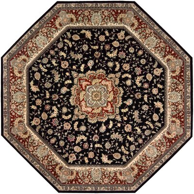 2000 Hand Woven Wool Black/Brown Indoor Area Rug Rug Size: Octagon 10