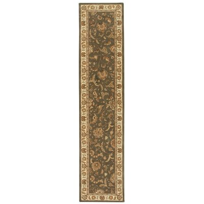 2000 Hand-Tufted Slate Area Rug Rug Size: Runner 26 x 12