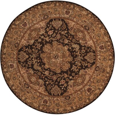 2000 Hand Woven Wool Tan Indoor Area Rug Rug Size: Round 6