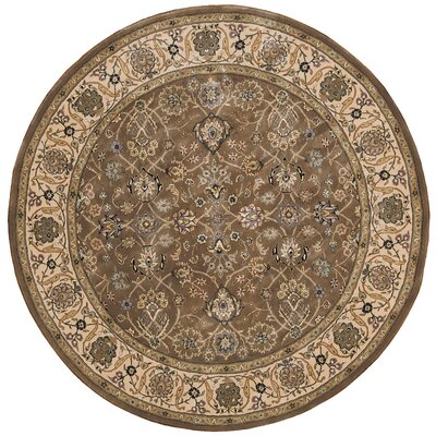 2000 Hand Woven Wool Green Indoor Area Rug Rug Size: Round 6