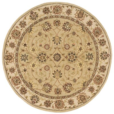 2000 Hand Woven Wool Brown Indoor Area Rug Rug Size: Round 8