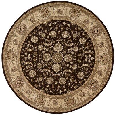 Buckhorn Hand Woven Wool Espresso Indoor Area Rug Rug Size: Round 4