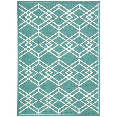 Felty Turquoise Area Rug Rug Size: 8 x 10