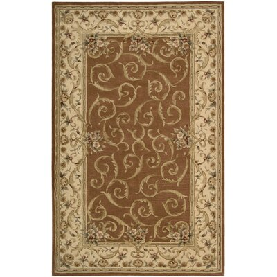 Axella Hand-Tufted Brick Oriental Area Rug Rug Size: Rectangle 56 x 86