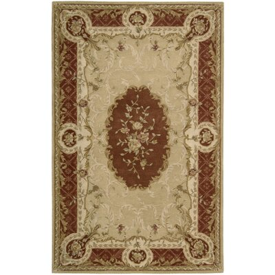 Heritage Savannerie Hand-Tufted Gold Area Rug Rug Size: 79 x 99