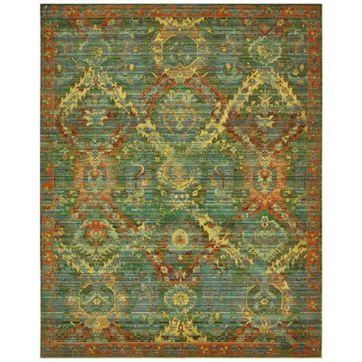 Eternal Seaglass Floral Area Rug Rug Size: 86 x 116