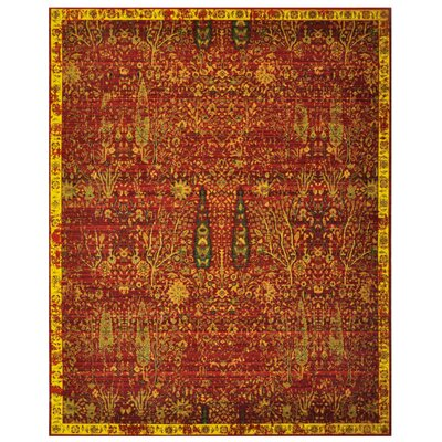 Eternal Scarlet Tree Area Rug Rug Size: 8'6