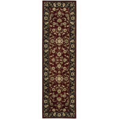 Ellerswick Hand Woven Wool Red/Green Indoor Area Rug Rug Size: Runner 26 x 12