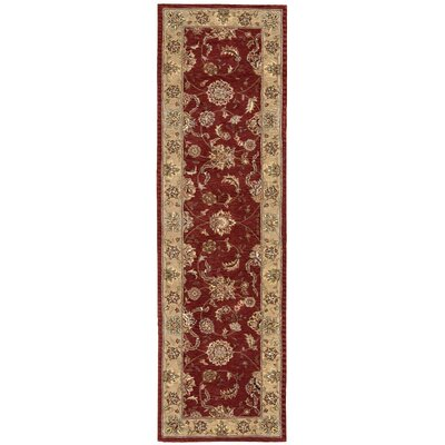 Ellerswick Hand Woven Wool Beige/Red Indoor Area Rug Rug Size: Runner 23 x 8