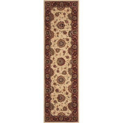 2000 Hand-Tufted Ivory Area Rug Rug Size: Runner 26 x 12