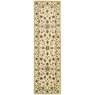 Ellerswick Hand Woven Wool Beige Indoor Area Rug Rug Size: Runner 23 x 8
