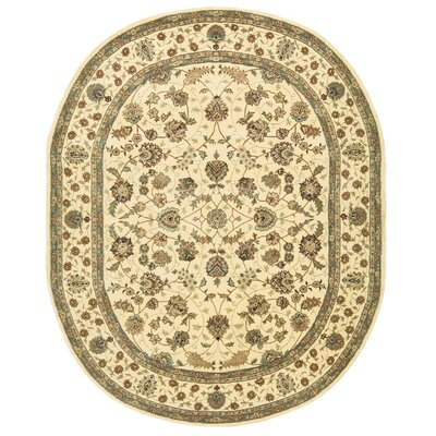 2000 Hand Woven Wool Beige Indoor Area Rug Rug Size: Oval 76 x 96