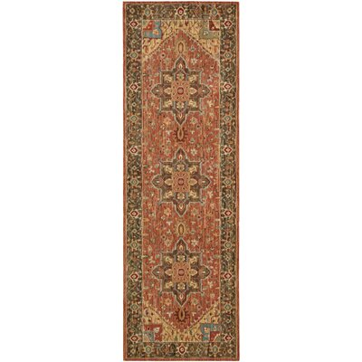 Crownover Rust Area Rug Rug Size: Runner 26 x 8