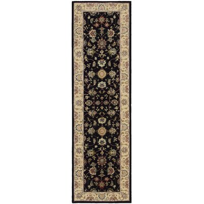 Ellerswick Hand Woven Wool Beige/Black Indoor Area Rug Rug Size: Runner 23 x 8