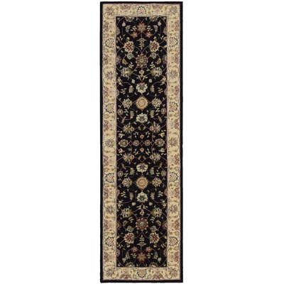 Ellerswick Hand Woven Wool Beige/Black Indoor Area Rug Rug Size: Runner 26 x 12