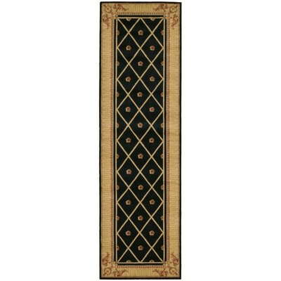 Payzley Black Area Rug Rug Size: Runner 23 x 8