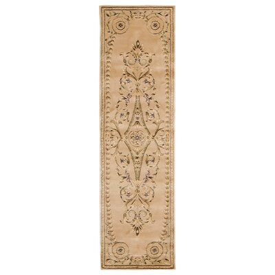 Versailles Palace Hand-Tufted Brown/Tan Area Rug Rug Size: Runner 23 x 8