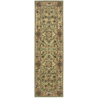 2000 Hand-Tufted Light Green Area Rug Rug Size: Runner 26 x 12