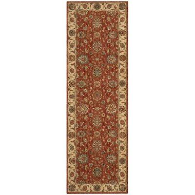 Crownover Wool Rust Area Rug Rug Size: Runner 26 x 8