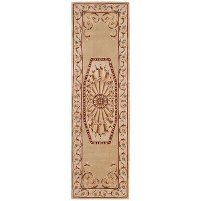 Versailles Palace Brown/Tan Area Rug Rug Size: Runner 23 x 8