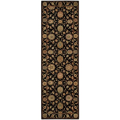 Crownover Black Area Rug Rug Size: Runner 26 x 8