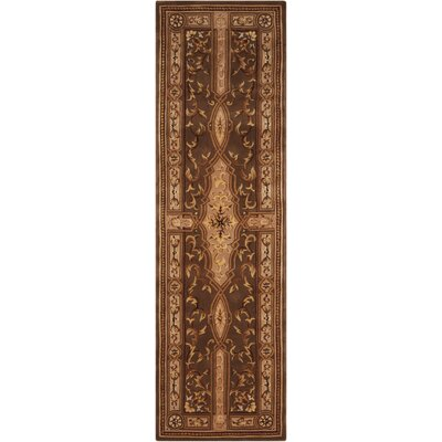 Brownlee Oriental Brown/Tan Area Rug Rug Size: Runner 23 x 8