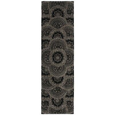 Dunbury Hand Woven Wool Black/Gray Indoor Area Rug Rug Size: Runner 26 x 12