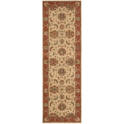 Crownover Ivory/Red Area Rug Rug Size: Runner 26 x 8