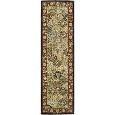 Dunbury Hand Woven Wool Beige/Red Indoor Area Rug Rug Size: Runner 26 x 12