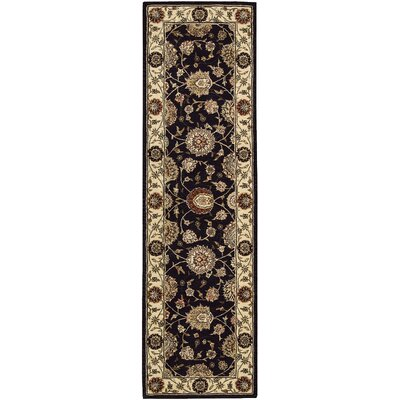 Ellerswick Hand Woven Wool Midnight Indoor Area Rug Rug Size: Runner 26 x 12