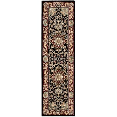 Bryony Hand Woven Wool Black/Brown Indoor Area Rug Rug Size: Runner 23 x 8