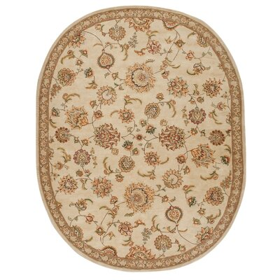 2000 Hand-Tufted Brown/Tan Area Rug Rug Size: Oval 76 x 96