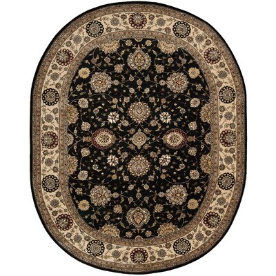 2000 Hand Woven Wool Midnight Indoor Area Rug Rug Size: Oval 76 x 96