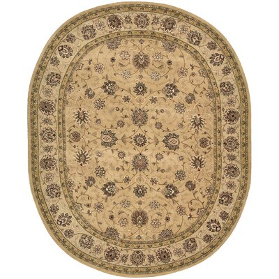 2000 Hand Woven Wool Brown Indoor Area Rug Rug Size: Oval 76 x 96