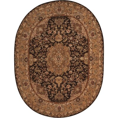 2000 Hand-Tufted Tan Area Rug Rug Size: Oval 76 x 96