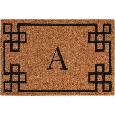 Monogrammed Doormat Letter: A