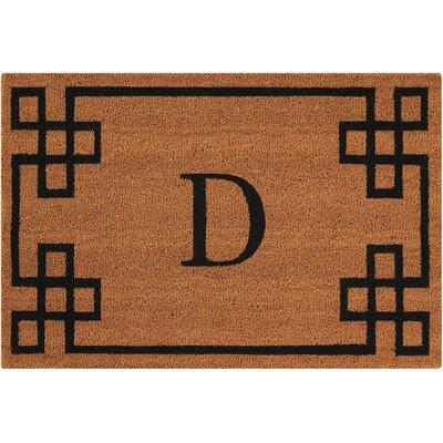 Monogrammed Doormat Letter: D