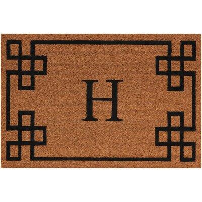 Monogrammed Doormat Letter: H