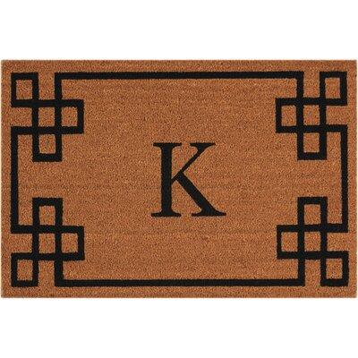 Monogrammed Doormat Letter: K