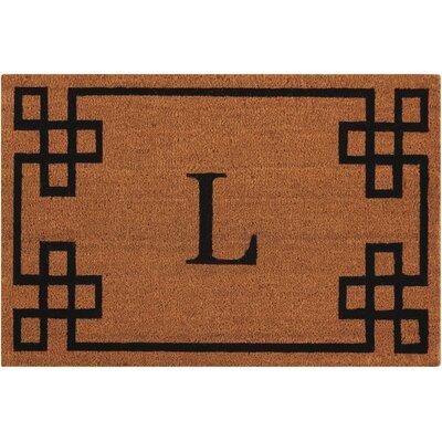 Monogrammed Doormat Letter: L