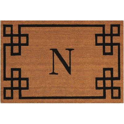 Monogrammed Doormat Letter: N