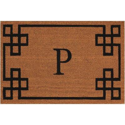 Monogrammed Doormat Letter: P