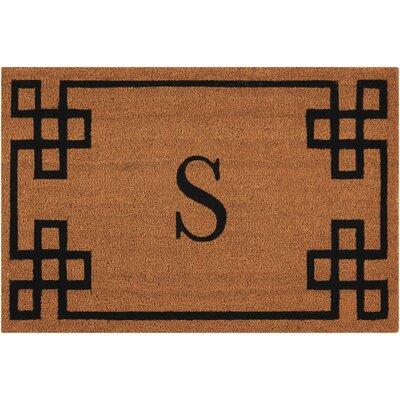 Monogrammed Doormat Letter: S
