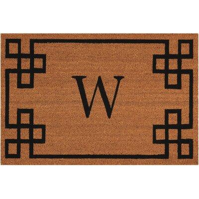 Monogrammed Doormat Letter: W