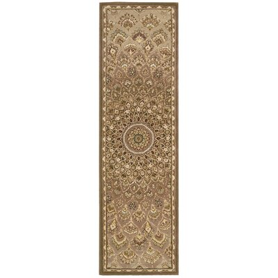 Dunbury Hand Woven Wool Brown/Cream Indoor Area Rug Rug Size: Runner 23 x 8