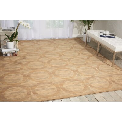Dringenberg Geometric Sand Area Rug Rug Size: Rectangle 56 x 8