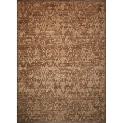 Silken Allure Chocolate Area Rug Rug Size: 56 x 8