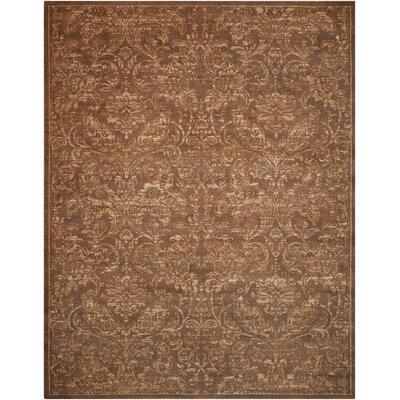 Silken Allure Chocolate Area Rug Rug Size: 79 x 99