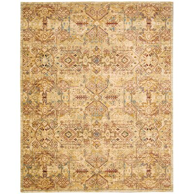 Rhapsody Light Gold Area Rug Rug Size: 86 x 116